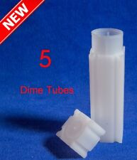 Lot Of 5 Coin Safe Square Tubes For Us Dime Storage Free Shipping Deal 5 Tubes