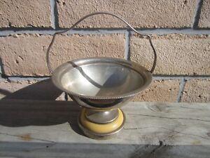 Vintage Silver Plated Lewbury Jam/Sugar ? Base With Butterscotch Trim