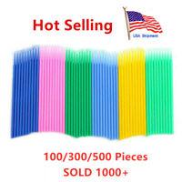 300/500pc Disposable Makeup Micro Eyelash Brush Swab Applicators Mascara Brush