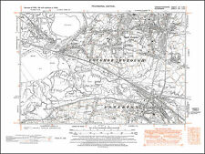 Loughor, Gowerton, old map Glamorgan 1948: 14SW repro Wales