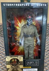 """SGT. D Neca 8"""" Retro Clothed Figure Stormtroopers Of Death SOD scott ian anthrax"""