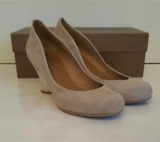 Audley beige/taupe suede heels. Never been worn. Uk 6