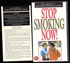 STOP SMOKING NOW - PAUL MCKENNA - VHS PAL (UK) VIDEO