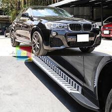 PEDANE LATERALI SOTTO PORTA PER BMW X4 F26 2014+ ACCIAIO INOX E PVC