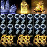 Xmas Decor Battery Operated Mini LED Copper Wire String Fairy Lights 3m 30 LEDs