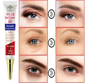 Eye Cream Instant 2 Minutes Anti Puffiness Eye Bags Firming Remove Dark Spots