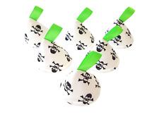 Pee Pee Teepee x6 / Wee Stop Cones Teepees / Boy Baby Shower Gift / Green Skulls