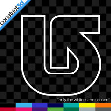 """(2x) BURTON OUTLINE 5"""" VINYL DECALS  * ANY COLOR snowboard snowboarding anon dc"""