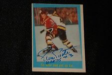 HOF PIERRE PILOTE 1959-60 TOPPS SIGNED AUTOGRAPHED CARD #60 BLACK HAWKS