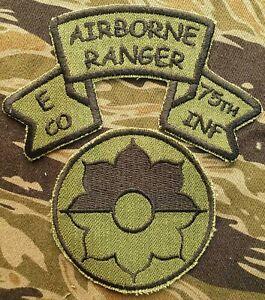 US Army Cut Edge 9th Infantry Division Shoulder Patch Airborne Ranger E-75 Set