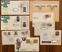 Bund / BERLIN 8 Briefe gelaufen Deutsche Bundespost Berlin mit Sonderstempel