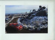 Marcus Gronholm Peugeot 307 WRC Argentine Rally 2005 Signed Photograph
