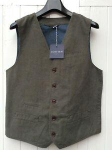 Mens Gurteen Grey cotton waistcoat  BNWT - many sizes