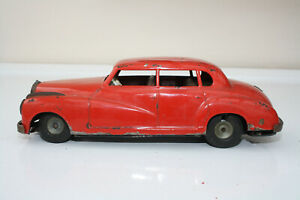 1950s JNF ? MERCEDES BENZ TINPLATE CAR RED WESTERN GERMANY RESTORATION PROJECT