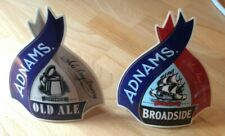 Adnams Broadside and Old Ale plastic beer pump clips
