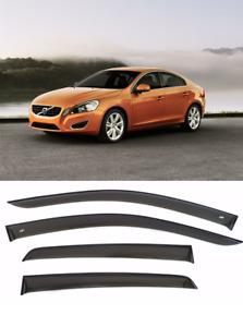 For Volvo S60 II 2010-2021 Window Visors Wind Sun Rain Guard Vent Deflectors