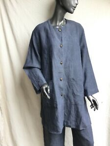 Kay Cosserat loose fit jacket. Oriental casual soft easy style. British designer