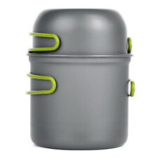 New listing 2pcs /Set Portable Camping Cookware Outdoor Hiking Picnic Tableware Pot