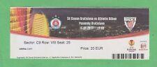 Orig.Ticket  Europa League 2011/12  SLOVAN BRATISLAVA - ATHLETIC BILBAO ! SELTEN