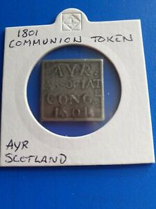 communion token 1801 Ayr Scotland