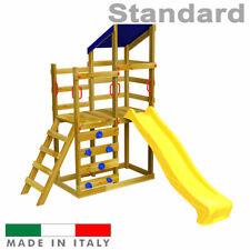 Scivolo per Bambini Torre Luna Doppia + Arrampicata Parco Giochi Giardino estern