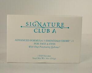 2 Signature Club A Advanced Formula 5 Essentials Creme +1 For Face & Eyes 4.5 oz