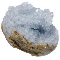 Natural Blue Celestite Crystal Druzy Quartz Geode Crystal Cluster Specimen Reiki
