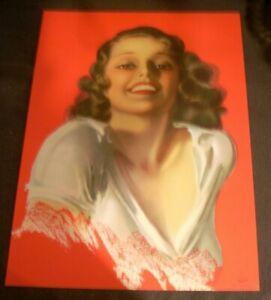 "ROLF ARMSTRONG Pin-Up Print Original ""Life is Glorious"" 1934 Brown & Bigelow"