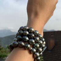 Tahiti Zuchtperl Armband elastisch 12-17 mm barock AA schöner Lüster