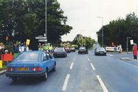 Worthing Sussex Postcard, 1988 Demonstrators, Stand at Roadside of A27, Cars 14N