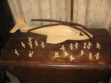 Vintage Tim Mee Toy Co. Super Attack Helicopter No. 74410
