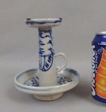 ancien bougeoir en porcelaine de Chine / antique chinese porcelain candlestick