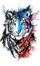 Tiger Temporary Tattoo Animal Waterproof 21cm x 15cm