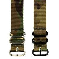 3 RING SS PVD HEAVY NATO Ballistic Nylon Military Watch Strap Band
