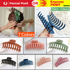 2Pcs Ladies Womens Large Hair Clip Claw Barrette Crab Clamp Scrub Plastic Hollow