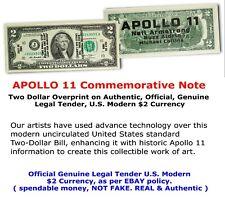 APOLLO 11 50TH ANNIVERSARY COMMEMORATIVE NOTE - Genuine Legal Tender $2 Bill