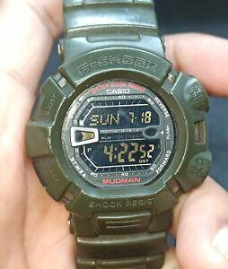 Used Casio G-Shock Mudman 200M Japan Made G-9000 FOR PARTS/REPAIR/WATCHMAKER.