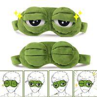 3D Green Frog Travel Sleeping Eye Mask Shade Relax Blindfold Sleep Cover Light