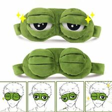 3D Green Frog Travel Sleeping Eye Mask Shade Relax Blindfold Sleep Cover Light