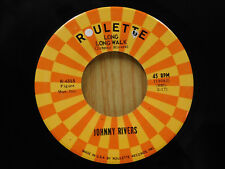 Johnny Rivers 45 Long Long Walk bw Baby Come Back   Roulette VG++