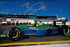Bertrand Gachot SIGNED 12x8  F1 Jordan-Ford HB 191 ,Brazilian GP Interlagos 1991