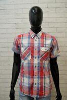 Camicia Uomo TOMMY HILFIGER Taglia M Maglia Manica Corta Camicetta Shirt Quadri