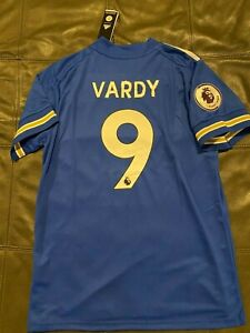 ADIDAS  LEICESTER CITY JAMIE VARDY  SOCCER JERSEY sz LARGE  NEW w TAGS
