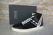 HOGAN 6 40 High Top Sneakers Schnürschuhe NEU Schuhe weiss schwarz ehem.UVP 310€