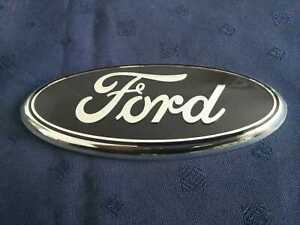 FORD FIESTA mk7 08-12 FRONT BUMPER CENTER GRILLE OVAL BADGE EMBLEM 175mm x 70mm
