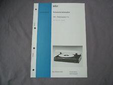 Service Anleitung BRAUN P 2 ab Gerät 20001 deutsch Manual Technische Information