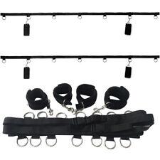Under Bed handcuff System Set Slave Body Restraint Bandage Strap Cuffs Kit