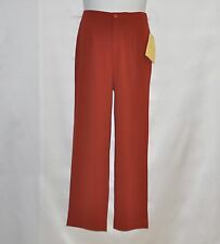 Bob Mackie Solid Stretch Crepe Pants Size S Rust