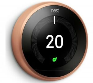 Google Nest Learning Thermostat, 3rd Generation, Copper