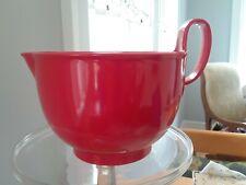 Red Vintage Dansk Gourmet Designs Mixing Bowl with Spout 3-1/2 Quart NEW